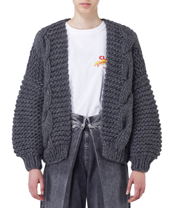 """DIAMOND"" BOMBER KNITJACKET"