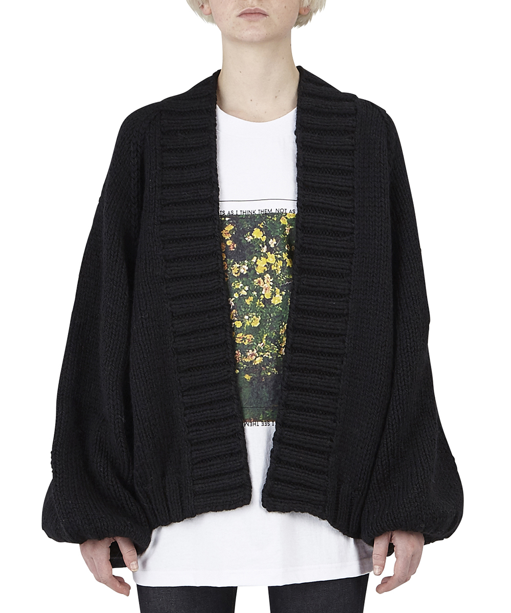"""KAMILLE"" BALLOON SLEEVE CARDIGAN"