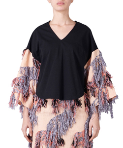 IRIS CUT JAQUARD TOPS