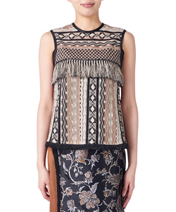 GEOMETRIC LACE TOPS