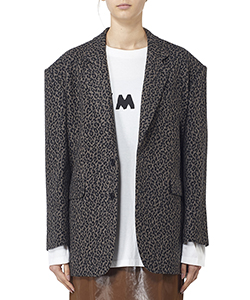 LEOPARD FLANNEL SINGLE JACKET
