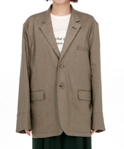 NATURAL DYE LINEN STITCH JACKET