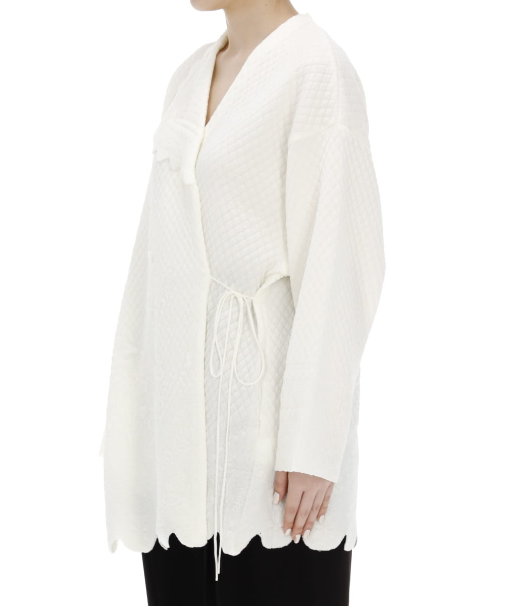 SCALLOP CUT KNITTED JACKET