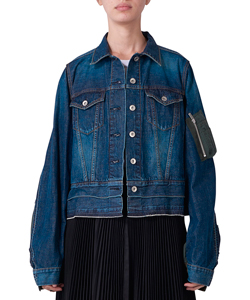 DENIM x UNCUT VELVET JACKET