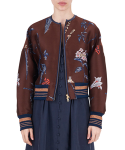 FLOWER DOUBLE CLOTH BLOUSON