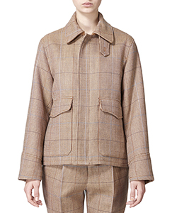 CORRIEDALE CHECK FLIGHT BLOUSON