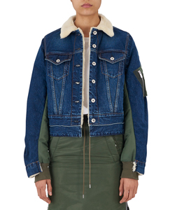 DENIM MA-1 COMBO JACKET