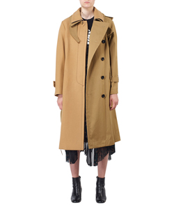 MELTON X COTTON COAT