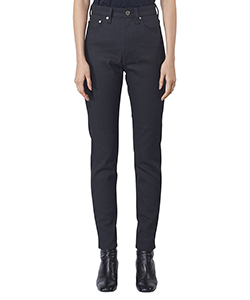 RIGID DENIM HI-WAIST PANTS