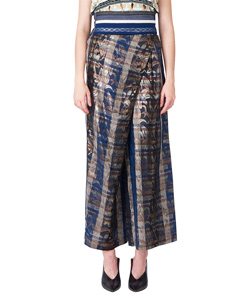 SPARKLE LAME PLAID THAILAND PANTS