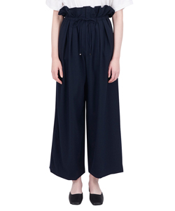 DRAWSTRING WIDE TROUSERS