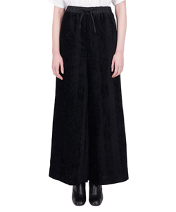 STRIPE CUT JACQUARD WIDE PANTS
