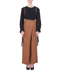 OVER WRAP WIDE PANTS