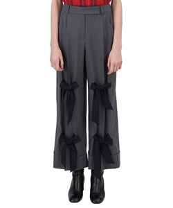 WIDE LEG TROUSER WITH MULTI BOWS