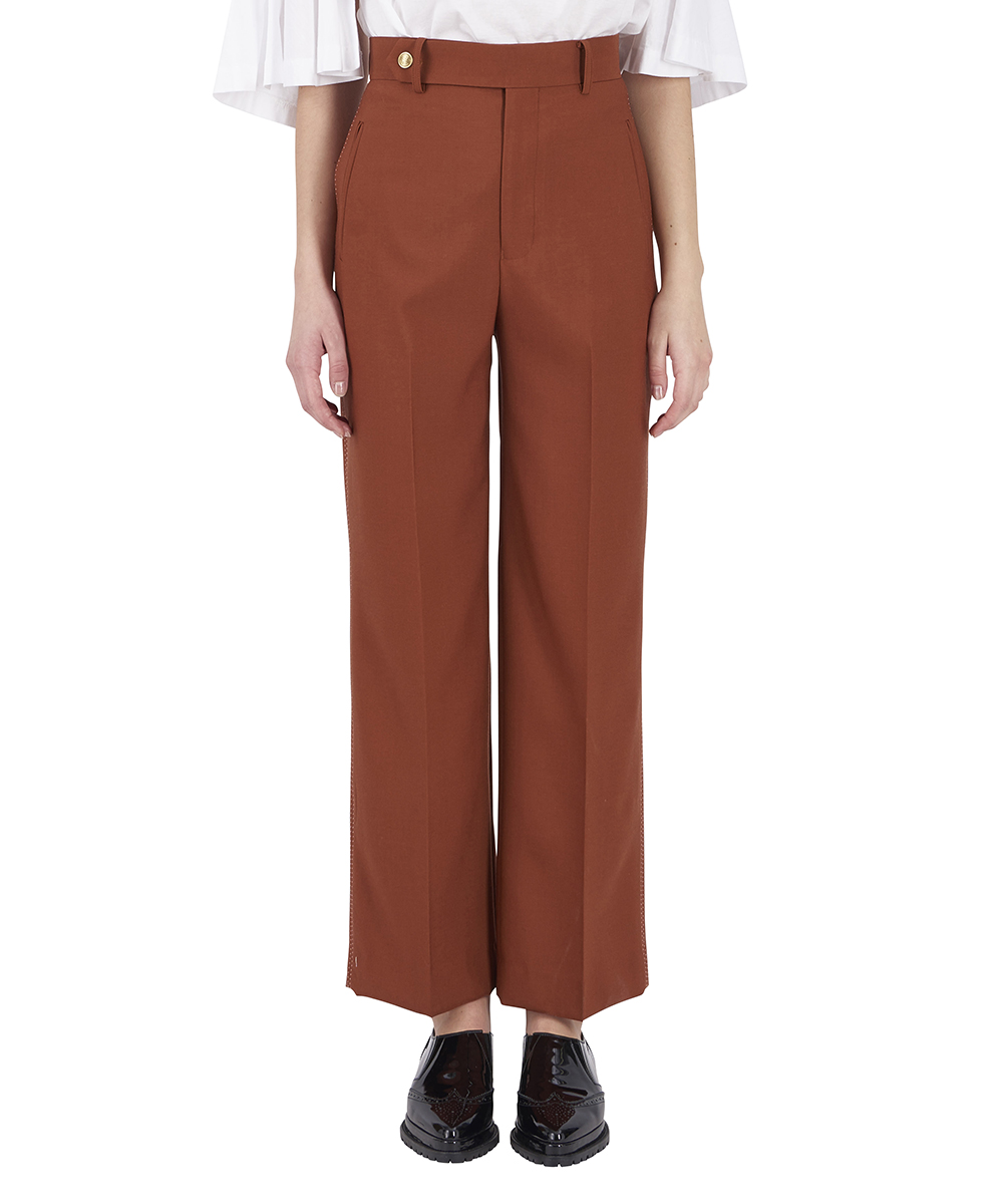 OFF SCALE TUSSORE HIGH WAIST PANTS