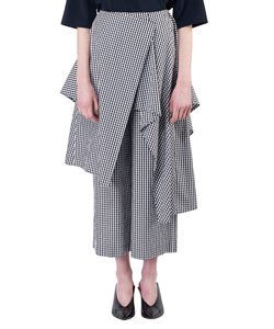 GINGHAM SKIRT PANTS