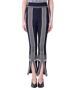 SASH JACQUARD KNIT LEGGINGS