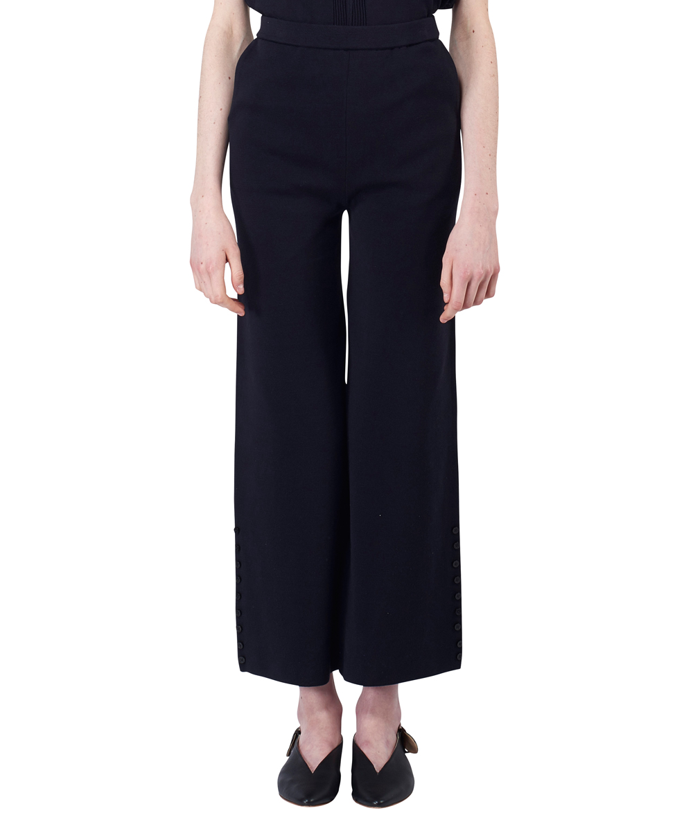 SIDEBUTTONS TAPERED PANTS