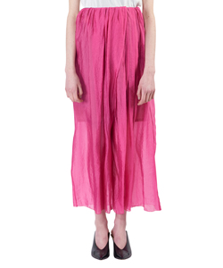 SILK NYLON ORGANDI WIDE PANTS