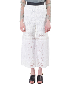 COTTON ENBLOYDARY PANTS