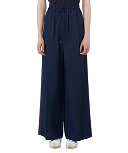 VISCOSE GABARDINE LINE WIDE PANTS