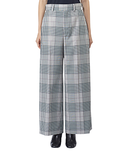 WOOL TYPEWRITER HIGHWAIST WIDE PANTS
