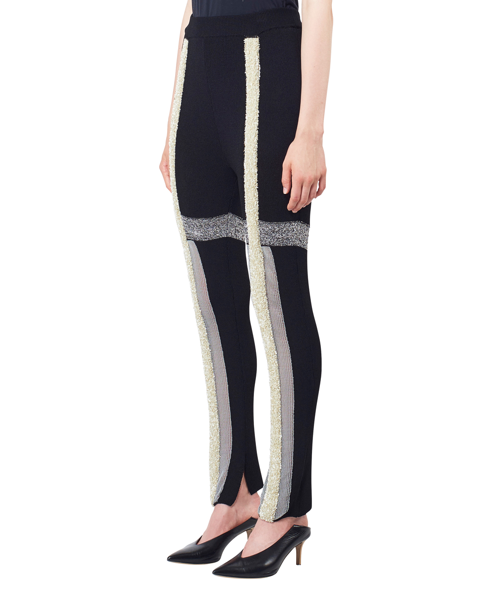 LAME LINE JACQUARD KNIT LEGGINGS