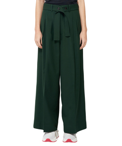 HARD TWIST GABARDINE TREETUCK WIDE PANTS