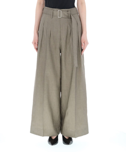 NATURAL DYE LINEN THREETUCK WIDE PANTS
