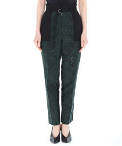 FLOWER EMBROIDERY STRAIGHT PANTS