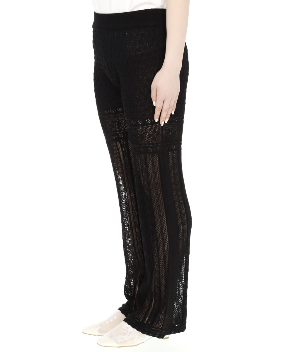 TRADITIONAL CURTAIN LACE KNITTED TROUSERS