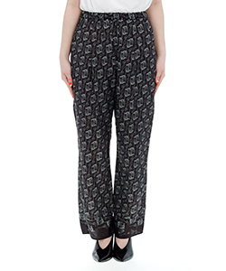 WASHED PATTERN INKJET PANTS