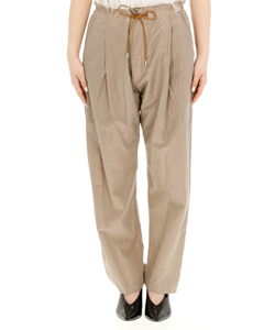 SILK COTTON GARMENT DYED PANTS