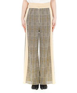 CHECKED LINE PANTS