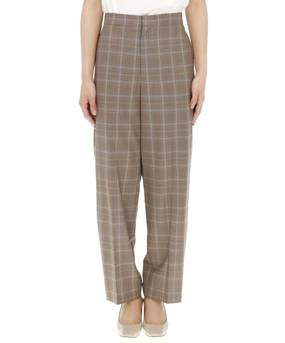 SUPER 140S WOOL TROPICAL STRAIGHT PANTS