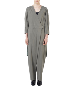BACK PLEATED JUMP SUIT