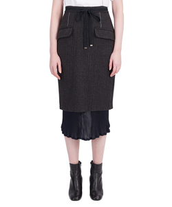 GLEN CHECK LAYERED SKIRT