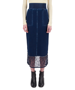 DENIM JERSEY TIGHT SKIRT