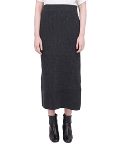 FINE WOOL LONG SKIRT