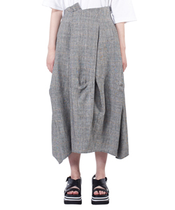 GLEN CHECK COCOON SKIRT