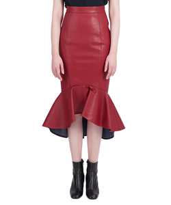 LEITHER MARMAID SKIRT