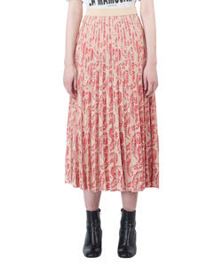 JACQUARD PLEAT KNITTING SKIRT