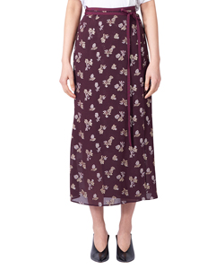LAME FLOWER JAQUARD SKIRT