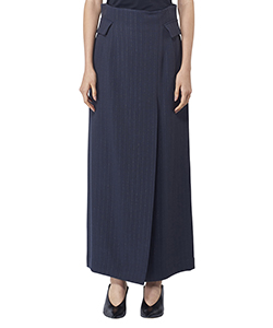 CENTER-FRONT SLIT LONG SKIRT