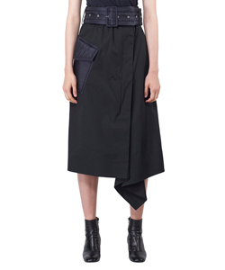 COTTON COATING SKIRT