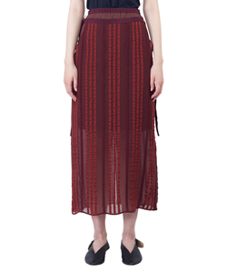 SEE-THOUGH STRIPED TIGHT SKIRT