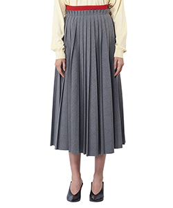 CHECK PLEATED SKIRT