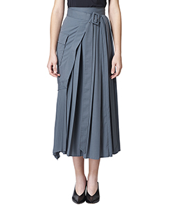 WRAP PREATED LONG SKIRT