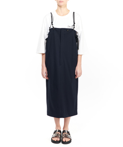 TRICOT SUSPENDERS SKIRT