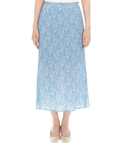 FLOWER HAND-PRINTED SKIRT
